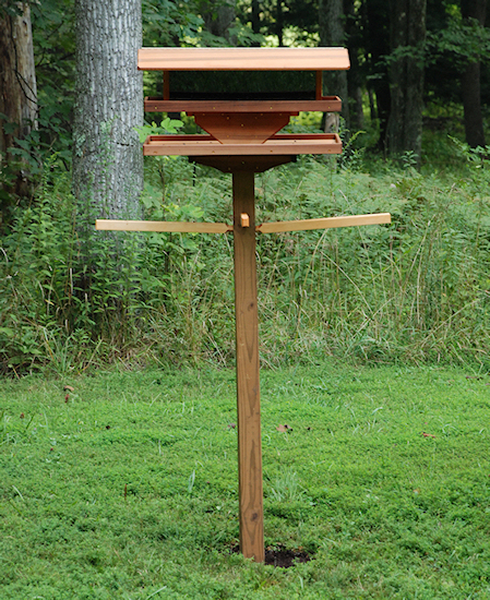 Hurley Byrd How Installing A Large Pole Mounted Bird Feeder