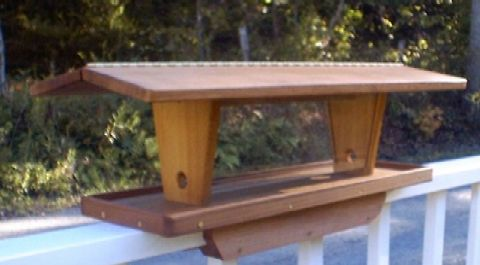 Hopper Style Bird Feeders for Wall and Rail Mountingof ...
