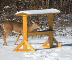 Covered And Roofed Deer Feeders
